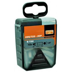 """Caja De 30 Puntas 1/4"""" Torx 25mm 59S/T10-30P Herramientas BAHCO"""