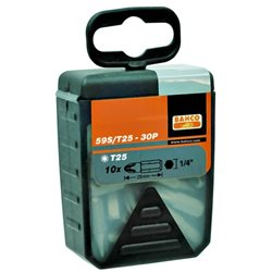 """Caja De 30 Puntas 1/4"""" Torx 25mm 59S/T15-30P Herramientas BAHCO"""