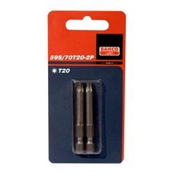 "Carton De 2 Puntas 1/4"" Torx20 70mm 59S/70T15-2P Herramientas BAHCO"