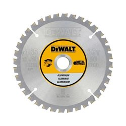 Hoja para sierra circular sin cable 165x20mm 36D para Aluminio FTG +3º Herramientas Dewalt