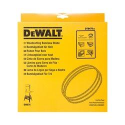 Hoja para sierra cinta, longitud: 2215mm, ancho: 20mm, espesor: 0.6mm, paso: 6.4mm, para cortes rápidos en madera gruesa Herramientas Dewalt