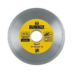 Disco de diamante para corte en seco con borde continuo 115x22.2mm, para cerámica Herramientas Dewalt