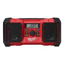 Radio 18V de obra resistente a caídas con conector USB y salida auxiliar, ver-0 Herramientas Milwaukee