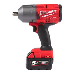 "Llave impacto M18 FUEL SIN ESCOBILLAS 18V, 1/2"" con pin, 1017Nm, Red Lithium 5,0Ah Herramientas Milwaukee"