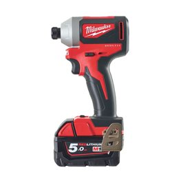Atornillador de impacto M18 Brushless SIN ESCOBILLAS 1/4Hex, 180 Nm Red Lithium 5,0Ah Herramientas Milwaukee