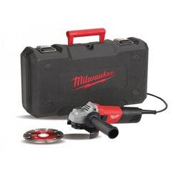 Amoladora 800W - Diam. Disco 125mm con LLO, maleta y disco general de obra AG800-125ED SET MILWAUKEE Herramientas Milwaukee