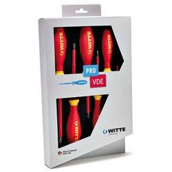 WITTE 670025 - Juego de 5 destornilladores PRO VDE (PL/PZ) Herramientas Witte