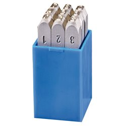 GRAVUREM 100.SR4 - Juego numeración 9 piezas (0-9) SR - Standard (4 mm) Herramientas Gravurem
