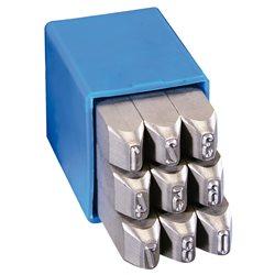 GRAVUREM 120.SKL6 - Juego numeración Special 9 piezas (0-9) - Trabajos exigentes (6 mm) Herramientas Gravurem