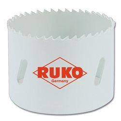 RUKO 126021 - Corona perforadora - HSS Co 8 - bimetal - dentado fino ( Ø 21 mm ) Herramientas Ruko