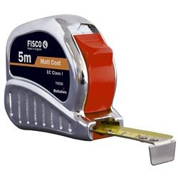 FISCO TM8M - Flexómetro clase I con caja de ABS cromada TRI-MATIC (8x25) Herramientas Fisco
