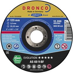 DRONCO AS60V-115 - Disco de corte metal AS 60 V Evolution Express, 115 x 1 mm Herramientas Dronco