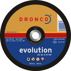 DRONCO AS30S-HT-125 - Disco de corte metal AS 30 S-HT Evolution, 125 x 3 mm Herramientas Dronco