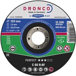 DRONCO C60R-125 - Disco de corte piedra C 60/C 46 R Perfect Express, 125 x 1,2 mm Herramientas Dronco