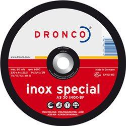 DRONCO AS30INOX-230-6 - Disco de desbaste AS 30 INOX Special-metal, 230 x 6 mm Herramientas Dronco
