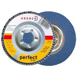 DRONCO AZ-115/6 - Discos de láminas abrasivas zirconio AZ , 115 mm, grano 60 Herramientas Dronco