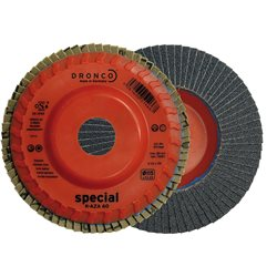DRONCO K-AZA-115/4 - Disco de láminas abrasivas zirconio base plástico plana K-AZA , 115 mm, grano 40 Herramientas Dronco