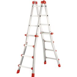 HAILO 7516-031 - Escalera aluminio telescópica multiposición ProfiStep Multi (4+4 peldaños) Herramientas Hailo