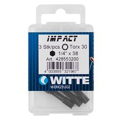 WITTE 428550 - 3 Puntas de impacto en cajita de plástico T 15 Herramientas Witte