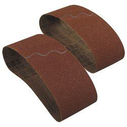 INTERFLEX AC411X.100.560.120 - Caja de 10 bandas de 100x560 mm para lijadora portátil óxido de aluminio (grano 120) Herramientas Interflex