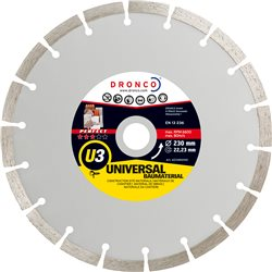 DRONCO U3-125 - Disco de diamante Perfect U3 - Universal obra (Antes ST) Ø 125 mm Herramientas Dronco