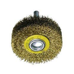 Osborn 0002501542 - Cepillo circular latón de alambre ondulado con vástago de 6 mm y filamento de Ø 0.20 mm (20x9x4 ) Herramientas Osborn