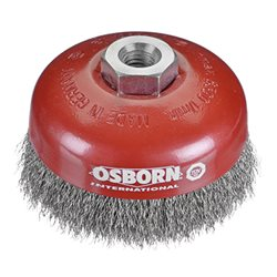 Osborn 0002613363 - Cepillo taza inox de alambre ondulado con tuerca M14 y filamento Ø 0.30 mm (80x30 ) Herramientas Osborn
