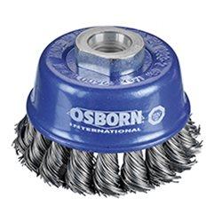 Osborn 0002608331 - Cepillo taza inox de alambre trenzado con tuerca M14 y filamento Ø 0.35 mm (65x20 ) Herramientas Osborn