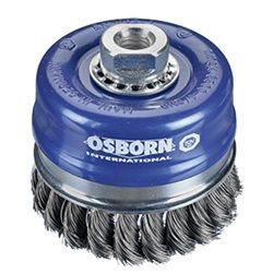 Osborn 0002608334 - Cepillo taza inox de alambre trenzado con tuerca M14 y filamento Ø 0.35 mm (100x(25+25) ) Herramientas Osborn