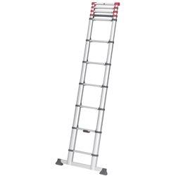 HAILO 7113-132 - Escalera telescópica de aluminio FlexiLine 380 de 13 peldaños Herramientas HAILO
