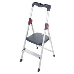 HAILO 4362-001 - Mini escalera de aluminio Widestep (2 peldaños) Herramientas Hailo