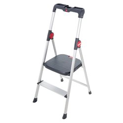HAILO 4363-001 - Mini escalera de aluminio Widestep (3 peldaños) Herramientas Hailo