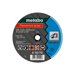 Flexiamant super 125x2,0x22,23 acero, TF 41 (616107000) Herramientas METABO