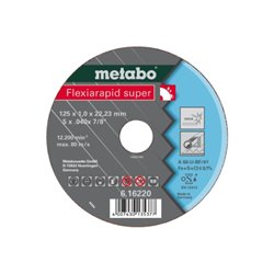 Flexiarapid super 125x1,6x22,23 Inox, TF 41 (616222000) Herramientas METABO