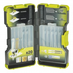 Caja 20 hojas de sierra Sierra calar madera & metal 75 & 100 mm dientes por polugada6 / 8 / 10 / 12 / 14 / 20 / 24 Herramientas RYOBI