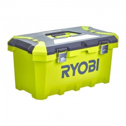 Caja para herramientas 49 cm - 33 L - cierres de metal - compartimentos puntas con tapa - dimensiones : 49 x 29 x 24 cm Herramientas RYOBI