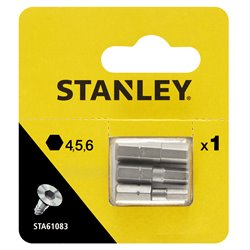 STA61083-XJ - 3 puntas Hexagonales 25 x 4, 5 y 6mm Herramientas STANLEY