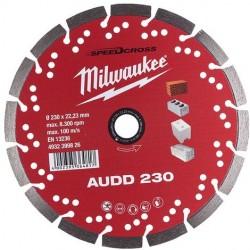 Disco diamante SPEEDCROSS Mat.Abrasivos - AUDD 230mm MILWAUKEE Herramientas Milwaukee
