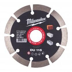 Disco diamante GENERAL OBRA - DU 115mm MILWAUKEE Herramientas Milwaukee