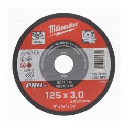 Discos PRO+ de corte 3mm - SC 42/230mm ( 25 Unidades ) MILWAUKEE Herramientas Milwaukee