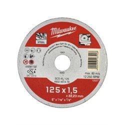 Disco Contractor 125 x 1,5mm ( 25 Unidades ) MILWAUKEE Herramientas Milwaukee