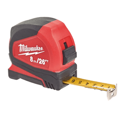 Flexómetro PRO 8m/25ft x 25mm métrica ( 6 Unidades ) MILWAUKEE Herramientas Milwaukee