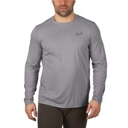 Camiseta para clima templado de manga larga, color gris, talla XXL Herramientas Milwaukee