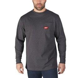 Camiseta de trabajo de manga larga, color gris, talla L Herramientas Milwaukee