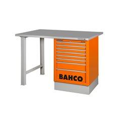 Banco de trabajo de 150cm con encimera de acero y cajonera lateral 1495K6CBLWB15TS Herramientas BAHCO