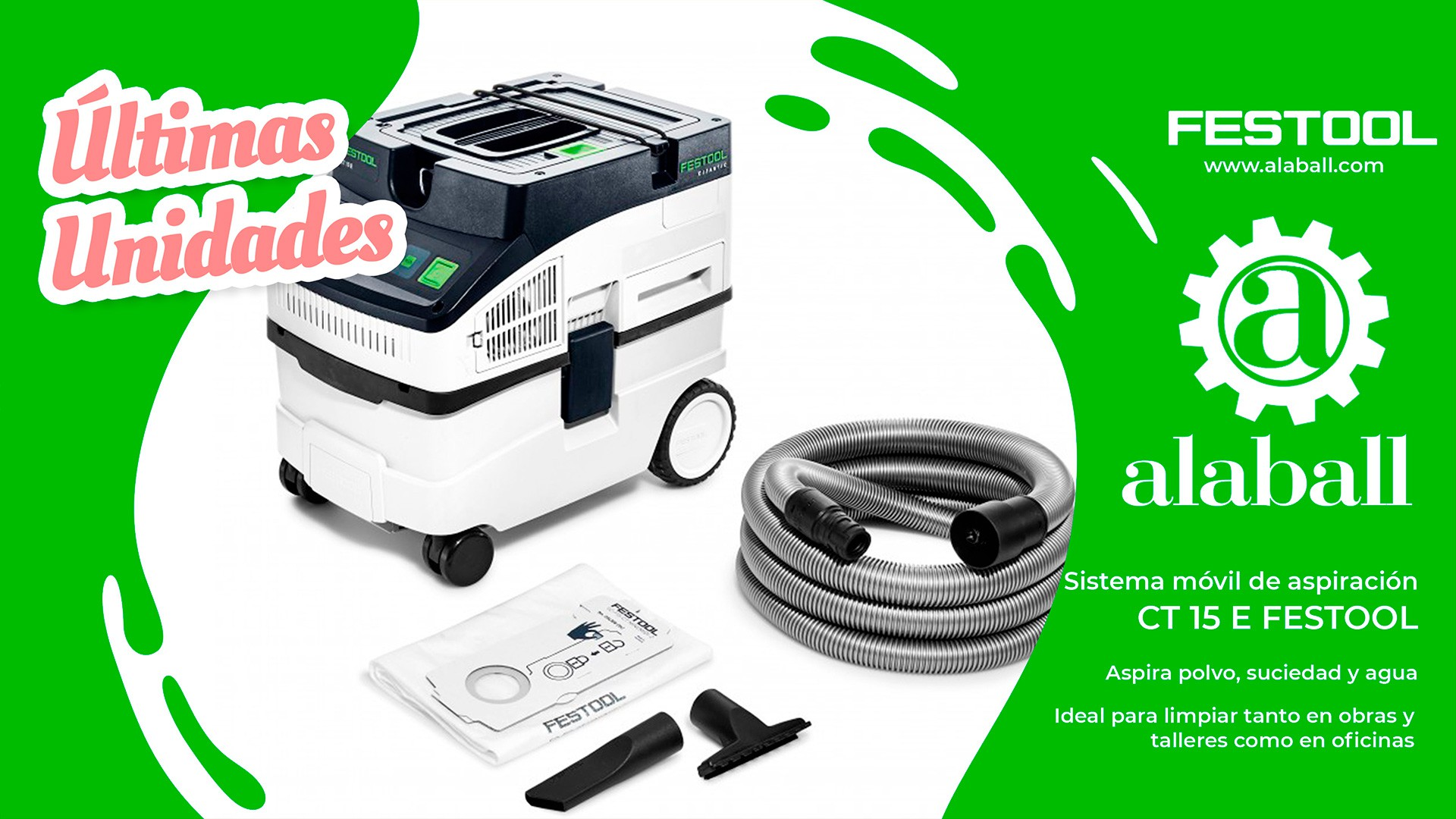 sistema movil de aspiracion CT 15 E FESTOOL
